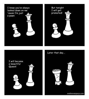 chess cartoon queen 001