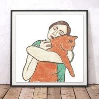 A_VoteForMe_Cat Hug_ArtPrint (1)