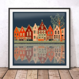 A_VoteForMe_Houses by the Water_ArtPrint